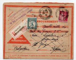 1933 - CP CONTRE REMBOURSEMENT De TOULOUSE, REEXPEDIEE, Avec TYPE PAIX PERFORE (AGRICULTURE) + TAXE - France