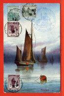 FRANCE TIMBRES ORPHELINS SUR CARTE DE 1920 DE TROYES - Francia