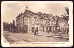 VILA DO CONDE / PORTO / PORTUGAL. Postal Do Casino Propriedade Da Companhia Portuguesa De Turismo. Carros.Old Postcard - Porto