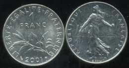 FRANCE  1 Franc  2001   Semeuse - Frankrijk