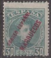 MA008-L4101.Maroc.Marocco . MARRUECOS  ESPAÑOL .Alfonso Xlll. 1903/9  (Ed 8** )sin Fijasellos. - Marruecos Español