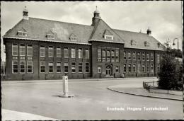 Cp Enschede Overijssel, Blick Zur Höheren Textilschule, Straße - Nederland