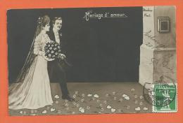 FEL242, Mariage D'Amour, Standes Amt, Fantaisie, Circulée 1913 - Noces