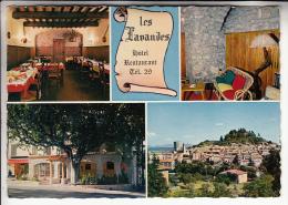 FORCALTIER 04 - Hotel Restaurant LES LAVANDES - CPSM Dentelée GF - Alpes De Haute Provence - Forcalquier
