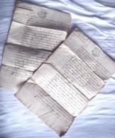 1785 Deux Actes Notariés BORDEAUX Mariage Et Bail - Documents Historiques