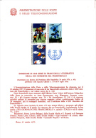 ITALIA - Bollettino Illustrativo P-TT. 1977 (italiano-francese)  - Protezione Natura - Infanzia - Paquetes De Presentación