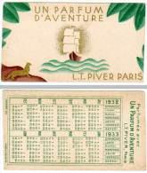 Carte Parfumée L.T. Piver Paris, Parfum D'aventure, Calendrier 1932 - Cartes Parfumées