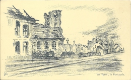 POELCAPELLE - Vor Ypern - Feldpostkarte - Illustrateur Willi Egler - Guerre 1914-18 Oorlog - Langemark-Poelkapelle