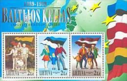 Lietuva Litauen 1999 MNH ** Mi. Nr. 705-707 Bl.17
