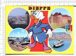 DIEPPE  -    4 Vues Et  Illustration  :  Walt Disney Prodcutions - Dieppe