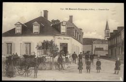 Carte  ALLIER  ST BONNET DE TRONCAIS Grande Rue Hotel Truffaut Cheval - Autres Communes
