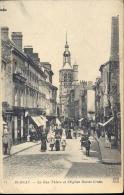 CP Bernay - La Rue Thiers Et église Sainte Croix - France