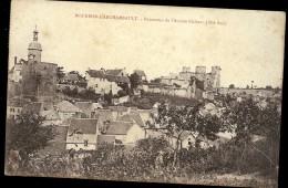 Carte  ALLIER  BOURBON L ARCHAMBAULT Panorama De L'ancien Château Côté Sud - Bourbon L'Archambault