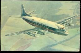 Carte Postale AIR FRANCE VICKERS VISCOUNT PLIEE - 1946-....: Moderne