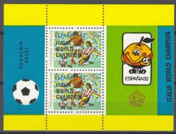 INDONESIA 1982 ZBL M/S, BLOCK 53 SURCHARGE, SPORT, FOOTBALL, FUSSBALL, VOETBAL, WC SPAIN 1982. MNH, POSTFRIS, NEUF**. - Wereldkampioenschap