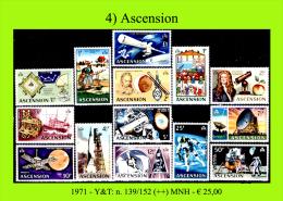 Ascension-004 (1971 - Y&T: N.139/152 (++) MNH) - Ascensione