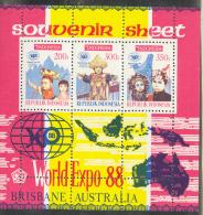 INDONESIA 1988 M/S, BLOCK 67 WOLD EXPO BRISBANE 88. MNH, POSTFRIS, NEUF**. - Wereldtentoonstellingen