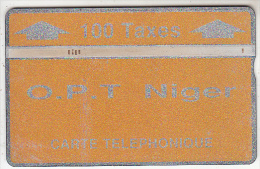 NIGER - Orange & Silver, OPT Niger Logo, Second Issue 100 Units, CN : 208B, Tirage 3000, Used - Niger