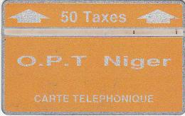 NIGER - Orange & Silver, OPT Niger Logo, Second Issue 50 Units, CN : 404C, Tirage 3000, Used - Niger