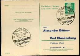 BIER RADEBERG 1962 Auf DDR P70 II A Antwort-Postkarte ZUDRUCK BÖTTNER #1 - Beers