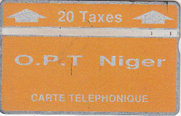 NIGER - Orange & Silver, OPT Niger Logo, Second Issue 20 Units, CN : 404C, Tirage 5000, Used