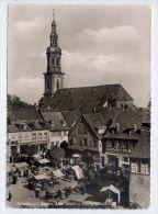 Allemagne--OFFENBURG--1961--Aiter Markt U Heilig Kreuzkirche (très Animée,marché),cpsm 10 X 15 Phot-Grimm - Offenburg
