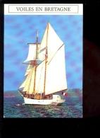 BATEAU VOILIER Goélette  L'ETOILE  Sailing Boat  Série Voiles En Bretagne - Voiliers