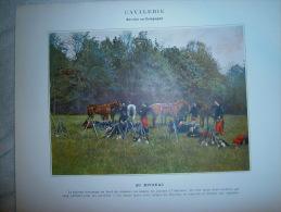 IMAGE  CAVALERIE  AU BIVOUAC - Militaria