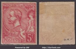 *PROMO* Double Impression De Mise En Train Sur 5Fr Albert Ier De 1891 (Y&T N° 21, Cote +++€))
