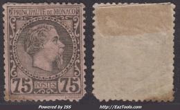 75c Charles III Neuf * (Y&T N° 8 , Cote 415€)