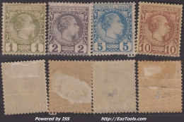 1c 2c 5c Et 10c Charles III De 1885 Neufs * Aspects TB  (Y&T N° 1 à 4 , Cote 340€)