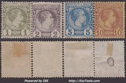 1c 2c 5c Et 10c Charles III De 1885 Neufs (*) TB  (Y&T N° 1 à 4 , Cote *: 340€)
