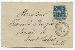 Lettre Avec T18 BAILLEAU LE PIN  / Dept 27 EURE ET LOIR / 21 Juin 1884 / TP SAGE - Marcophilie (Lettres)