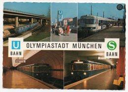 Cpsm - Olympiastadt München - U Bahn - S Bahn - (Zug) - Muenchen