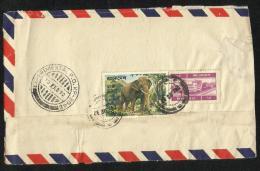 Bangladesh  Air Mail Postal Used Cover Bangladesh To Pakistan Elephant  Stamp 3 Scan - Bangladesh