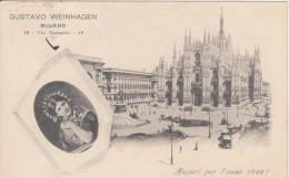 Milano.Pubblicità Gustavo Weinhagen. Auguri Per L Anno 1899 - Milano (Milan)