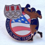 Badge Pin ZN000291 - Boxing USA Olympic Team - Boxing