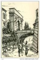 34 - Cpm - ILLUSTRATEUR JEANJEAN - Montpellier - L´Arc De Triomphe Et Son Pont En 1850 - No 14 - Montpellier