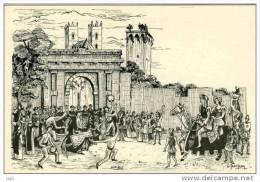 34 - Cpm - ILLUSTRATEUR JEANJEAN - Montpellier - Ancienne Porte Des Carmes Démolies En 1869 - Cathedrale - Tour - No 17 - Montpellier