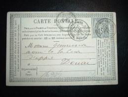 CP PRECURSEUR TP SAGE 15C OBL. 27 OCT 77 BOULOGNE-S-MER PAS-DE-CALAIS (62 PAS-DE-CALAIS) - Storia Postale