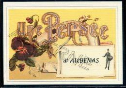 07  AUBENAS ...  .....  Souvenir Au Fusain Creation Moderne Série Limitée Et Numerotée 1 à 10 ... N° 2/10 - Aubenas