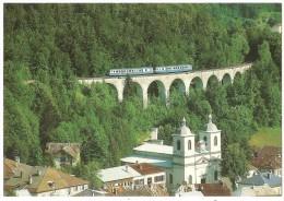 Dépt 39 - MORBIER - Autorails X 2836 Et X 2864, Saint-Claude - Dôle, Sur Le Viaduc De Morbier (1993) - Train, Autorail - France