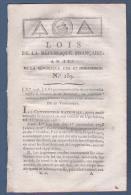 LOIS DE LA REPUBLIQUE AN IV - LOIS SUR SUSPECTS ET DESARMEMENT - MANDATS CONTRAIRES AUX LOIS DES 5 ET 13 FRUCTIDOR - Gesetze & Erlasse