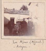 AJ- 2 Photos Stereoscopiques 40x45mm Vers 1900.route Des Mines Mejanel, Aveyron France Route Des Mines Mineurs - Photos Stéréoscopiques