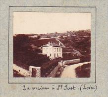 AM- 2 Photos Stereoscopiques 40x45mm Vers 1900. Saint Just Sur Loire, 1901, Maison Marie Marthe . Femme - Photos Stéréoscopiques