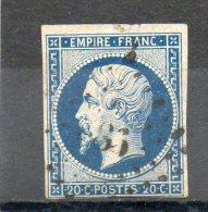 FRANCE    20 C    Napoléon III    Année 1854    Y&T: 14B      (oblitéré) - 1853-1860 Napoléon III.