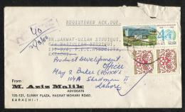 Pakistan 1988  Registered Postal Used Cover World Health Stamp - Pakistan