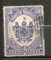 BORNEO Armoirie 50c Violet 1883-86 N°10 - Borneo Del Nord (...-1963)