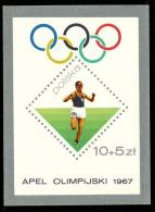Pologne BL 046** -  Prelude Aux Jeux Olympiques De 1968  MNH - Summer 1968: Mexico City