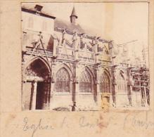 AR- 2 Photos Stereoscopiques 40x45mm Vers 1900. Pont De L'Arche , Eure, France - Eglise Pont - Photos Stéréoscopiques